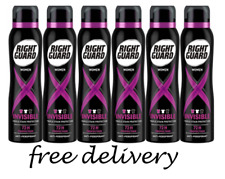 Right Guard Womens Deodorant, Xtreme Invisible 72H , 6 x 150ml Multipack