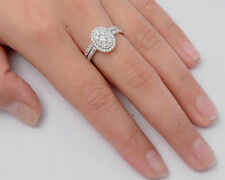 USA Seller Oval Wedding Ring Set Sterling Silver 925 Best Deal Jewelry Size 9