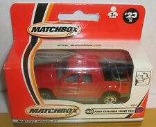 Matchbox # 23 Ford Explorer Sport Trac  Pick up Truck  RED  New in box  row