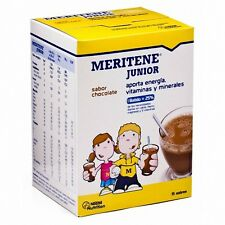 MERITENE JUNIOR CHOCOLATE 15 SOBRES    100 % ORIGINAL MONOVARSALUD