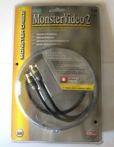 MonsterVideo2 CABLE 1 meter m (3.3 ft) S-Video MVSV2 Interconnect High Res NEW