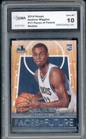 2014 Andrew Wiggins Hoops Faces of Future Rookie Gem Mint 10 #11