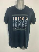 MENS JACK & JONES CORE BLUE CASUAL SHORT SLEEVED CREW NECK T SHIRT TOP SIZE M