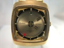 Vintage Zodiac Astrographic SST Gold Mystery Dial Swiss Automatic Watch