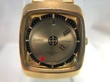 Vintage Zodiac Astrographic SST Oro Quadrante MISTERO Swiss Orologio Automatico