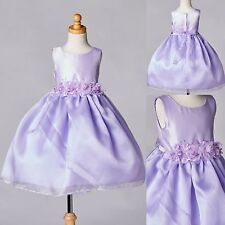 NEW Organza & Satin Dress Flower Girl Formal Pageant Recital Birthday Wedding#35