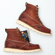 Thorogood 6 Soft Tobacco Brown Leather Moc Toe Boots - Men's 8.5 D
