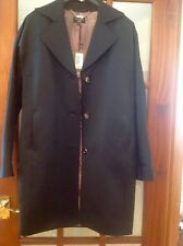 Ladies Brand New Ted Baker Black Satin Coat,Size 2/Small/Mediu. RRP £250