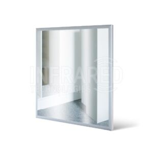 Far Infrared Heated Mirror Panel Heater Radiator Glass Radiator 300W 60cm x 60cm