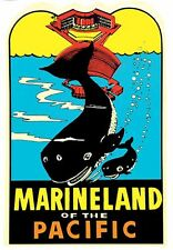 Marineland Of The Pacific  California    Vintage Style Travel Decal Sticker
