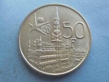 Belgium, silver 50 Francs (Des Belges) 1958, in Excellent Condition.