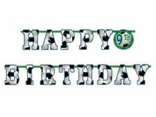 Football Soccer Party Decoration 10ft Add an Age Happy Birthday Letter Banner
