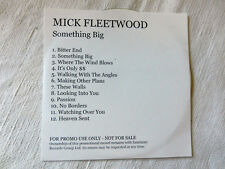 MICK FLEETWOOD Something Big CD Musicale