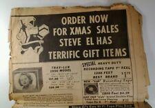 1956 Steve-El Electronics NYC Store Newspaper Ad 61 Reade Record Tape Hi Fi Tube