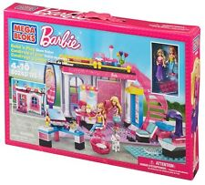 MEGA BLOKs Barbie Build n Style Glam Salon SET 80245 cat hair play girls cute