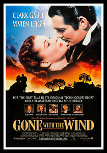 Gone With The Wind Movie Poster Print & Unframed Canvas Prints
