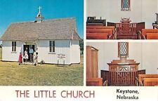 Keystone NE~The Little Church~Organ & Piano~Catholic~Protestant~1950~Postcard