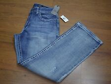 Men's Axel Vintage Boot Denim Distressed Jeans Size 32X32