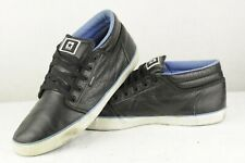 Mens CONVERSE Trainer Shoes ALL STARS LEATHER Lace Ups Black 11UK P78