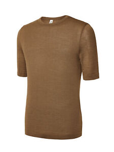 Mens Warm Thermal Base layer Camel Wool T-shirt Top