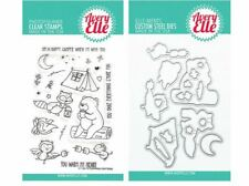 Avery Elle Clear Stamp & Die Combo~ CAMPING CRITTERS Forest, Animals ~ST/D-20-14