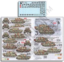 ECHELON FD D356236, 1/35 Decals for Jagdtiger Sd.Kfz. 186 (Henschel & Porsche)