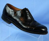 Johnston Murphy Opti-Flex Black Leather Wingtip Brogue Oxfords Mens 10 D/B