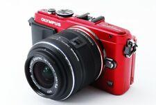 Olympus PEN Lite E-PL6 Red 16MP 14-42mm Lens Kit [Exc w/8GB,Flash [414]