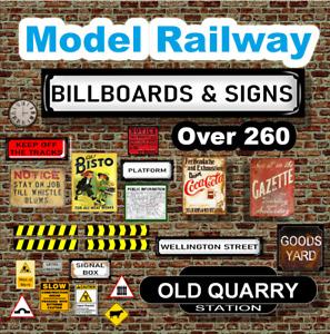 OVER 260 Signs & Billboards for  Model Railway OO Gauge