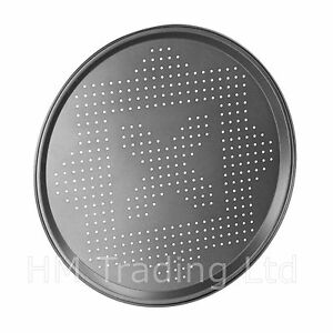 Non-Stick Pizza Pan 30 cm Diameter Rounded shape Tray for Baking Oven Dish Holes