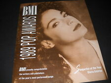 Gloria Estefan Songwriter Of The Year 1989 Promo Poster Ad mint condition