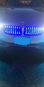 MIT GLOSS BLACK KIDNEY GRILLE WITH BLUE LED BMW F30 F31 F35 3 SERIES 2012-ON