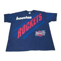 Vintage NBA Houston Rockets Salem Sports T Shirt XXL VTG 90s Single Stitch