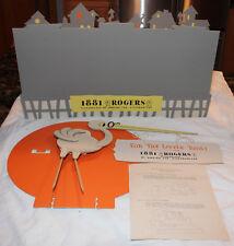 Original 1950s Oneida 1881 Rogers Stork Store Display NOS