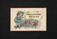 Vintage HALLOWEEN Postcard HALLOWEEN JOLLITY No.601