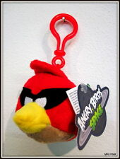 SPACE RED BIRD ANGRY BIRDS SPACE BAG CLIPS  PLUSH KEYCHAIN PELUCHE KEYRING 8 CM