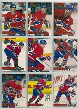 1994-95 Topps Stadium Club Stanley Cup Winner Logo Lot of 9 Montreal Canadiens