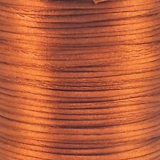 Cola de rata Satén Cable 1.5mm Kumihimo Macramé Shamballa-cobre - 5m