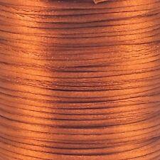 Rattail Satin Cord 1.5mm Kumihimo Macrame Shamballa - Copper - 5m
