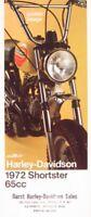 1972 Harley-Davidson Shortster 65cc ORIGINAL Brochure Xlnt Motorcycles