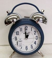 NEW SEIKO BLUE DUAL BELL  EXTRA  LOUD ALARM CLOCK, QUIET SWEEP/ SNOOZE QHK051LLH