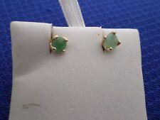 Emerald Ear Rings in 925 solid Sterling Silver