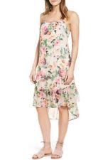 NWT Charles Henry Camil Dress Size Small Chiffon Midi Floral Ruffle Sleeveless M