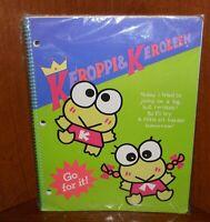 Large New Vintage Sanrio Keroppi & Keroleen Spiral Notebook for Binder Frogs