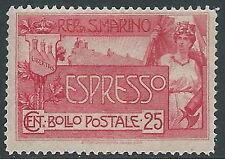 1907 SAN MARINO ESPRESSO 25 CENT MNH ** - X23