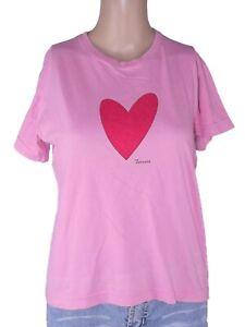 fiorucci t shirt maglia uomo rosa manica corta made italy xs extra small