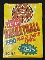 * MICHAEL JORDAN ALLSTAR SHOWN TOP * 1990 Fleer Basketball Pack, Chicago Bulls