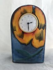 Poole Pottery Mantle Clock British Design