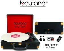 Boytone Bt-101 Bluetooth Turntable Briefcase Record player Ac-Dc, Mp3 Encoding