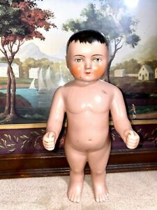 """Frozen Charlie China Doll 11"""" - Antique -Very Rare - Fresh Out of An Estate"""
